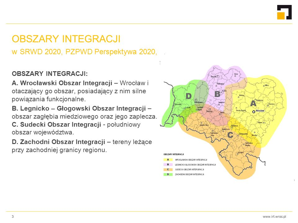www.irt.wroc.pl OBSZARY INTEGRACJI: A.