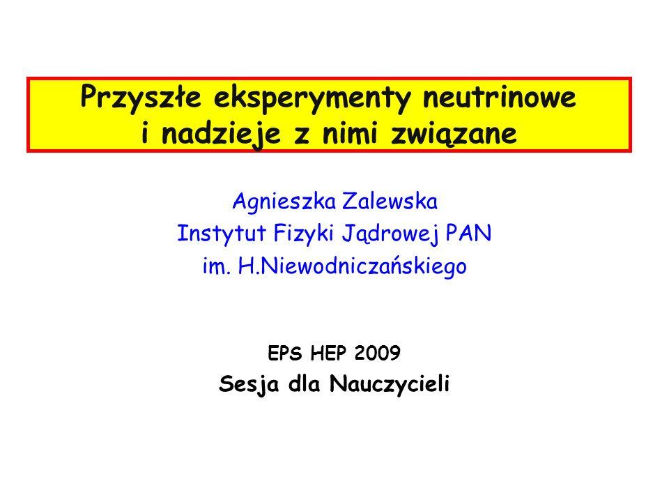 Przyszłe eksperymenty neutrinowe i nadzieje z nimi związane Agnieszka Zalewska Instytut Fizyki Jądrowej PAN im.