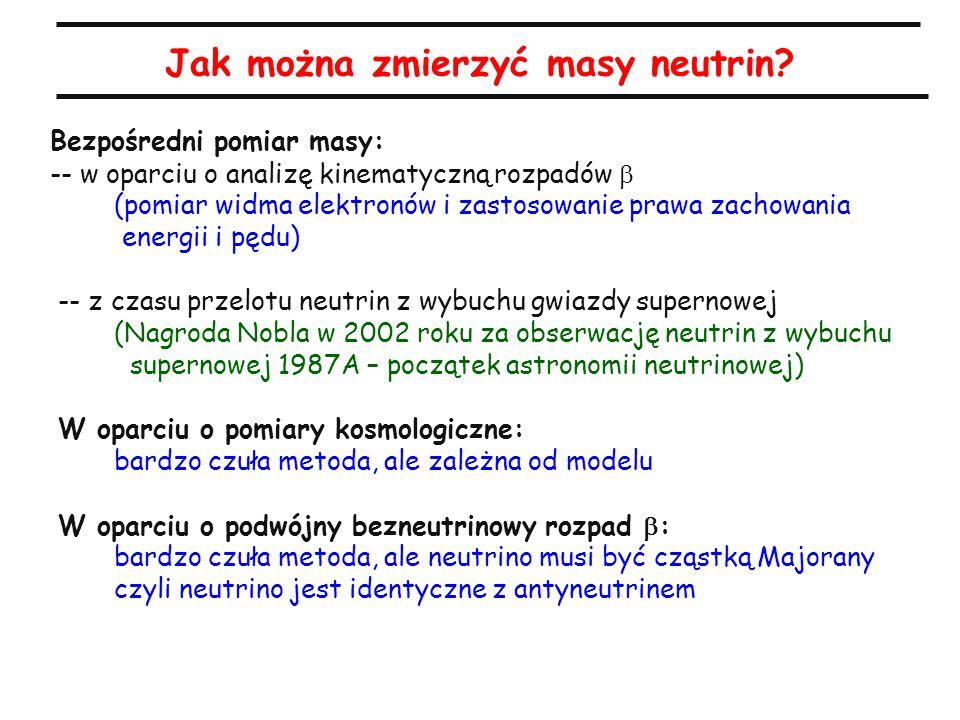 Jak można zmierzyć masy neutrin.