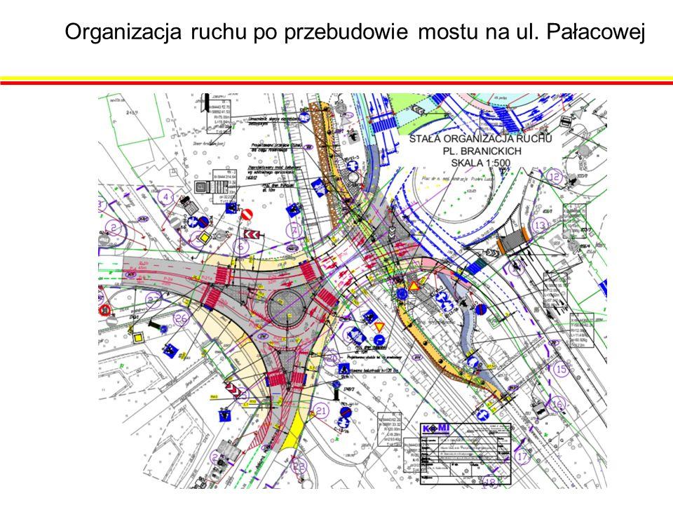 Organizacja ruchu po przebudowie mostu na ul. Pałacowej