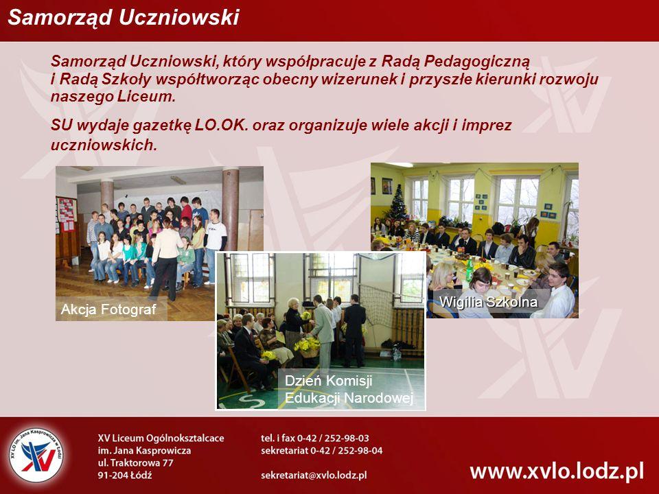 Samorząd Uczniowski, który współpracuje z Radą Pedagogiczną i Radą Szkoły współtworząc obecny wizerunek i przyszłe kierunki rozwoju naszego Liceum. SU