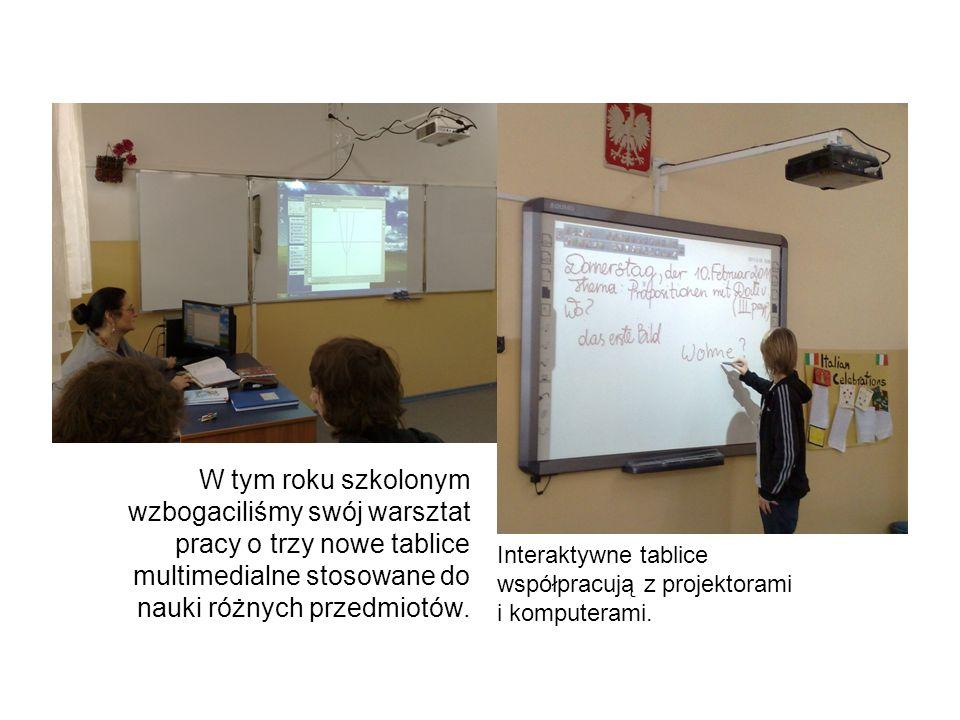 W tym roku szkolonym wzbogaciliśmy swój warsztat pracy o trzy nowe tablice multimedialne stosowane do nauki różnych przedmiotów. Interaktywne tablice