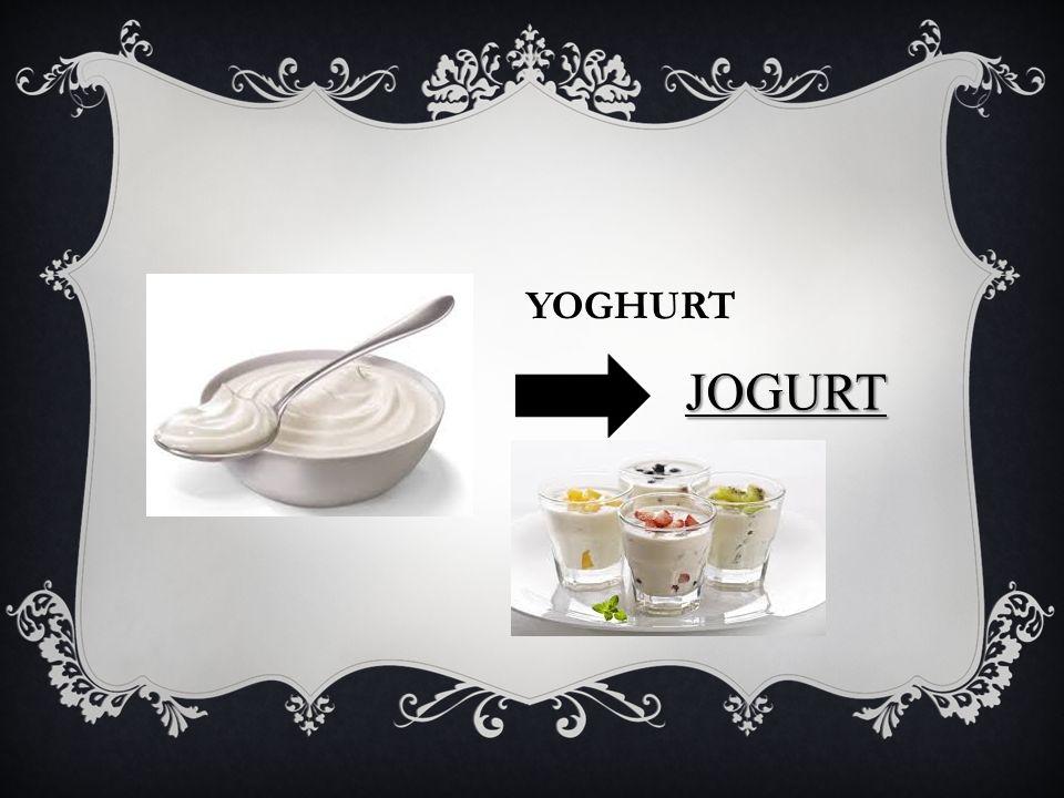 YOGHURT JOGURT