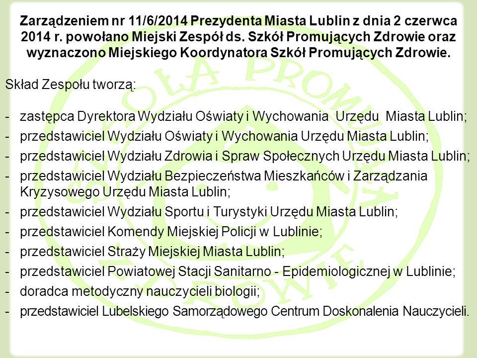 Zarządzeniem nr 11/6/2014 Prezydenta Miasta Lublin z dnia 2 czerwca 2014 r.
