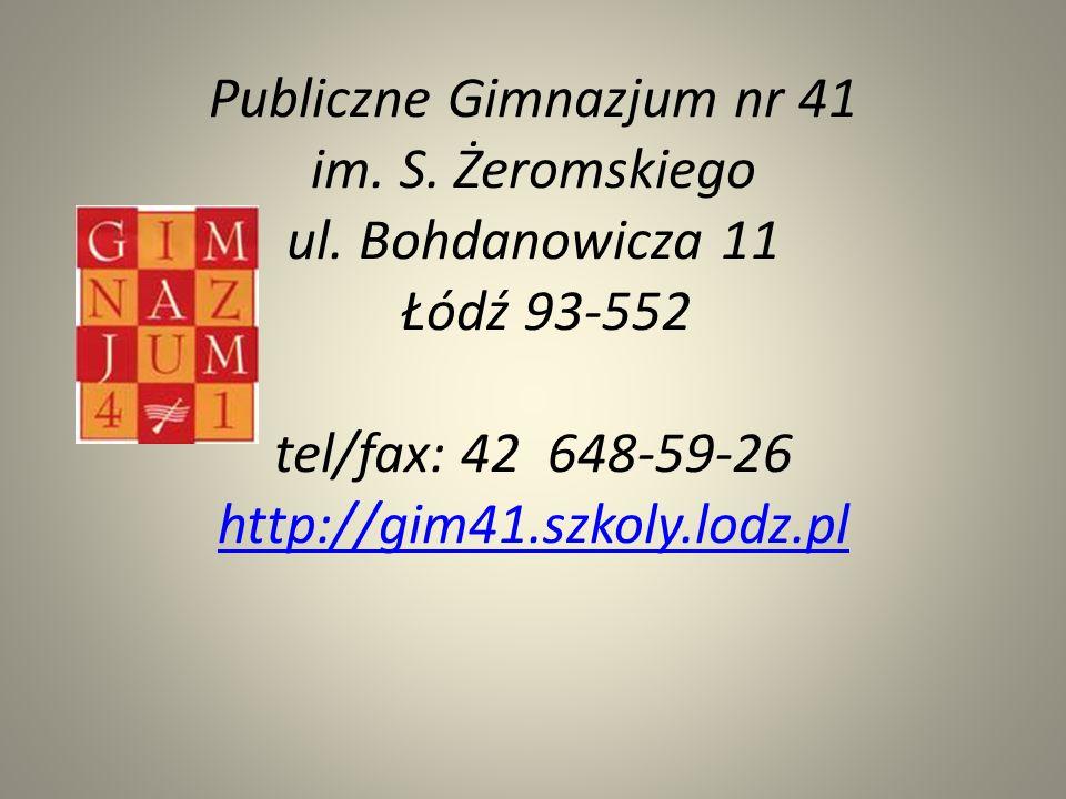 Publiczne Gimnazjum nr 41 im. S. Żeromskiego ul.