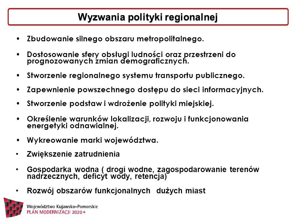 Wyzwania polityki regionalnej Zbudowanie silnego obszaru metropolitalnego.