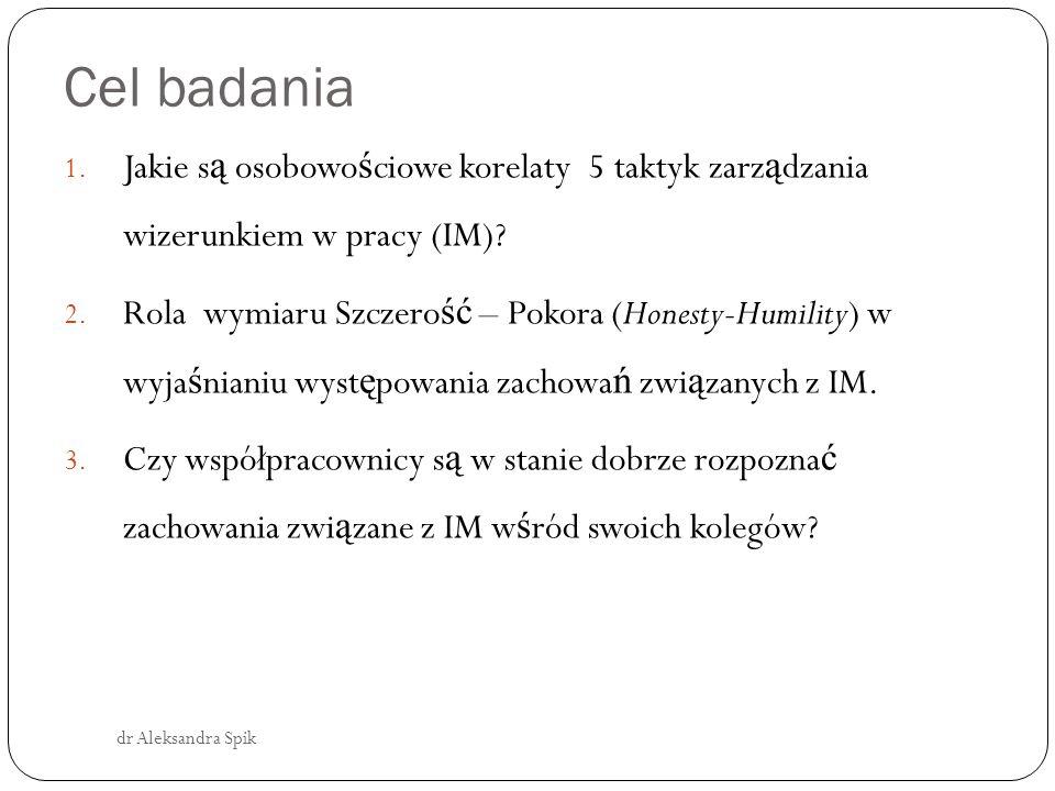 Zarządzanie wizerunkiem dr Aleksandra Spik Współcze ś nie w literaturze dotycz ą cej IM współistnieje kilka konkurencyjnych konceptualizacji.