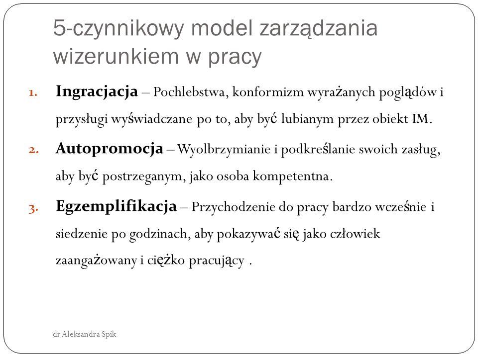 5- czynnikowy model IM dr Aleksandra Spik 4.