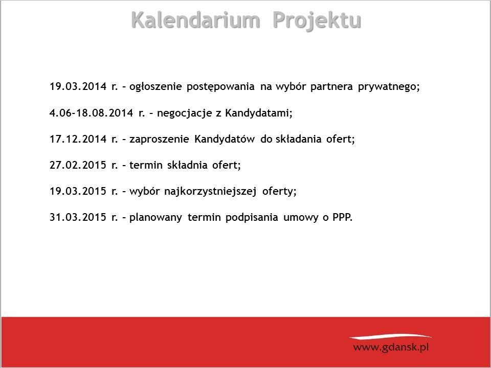 Kalendarium Projektu 19.03.2014 r.
