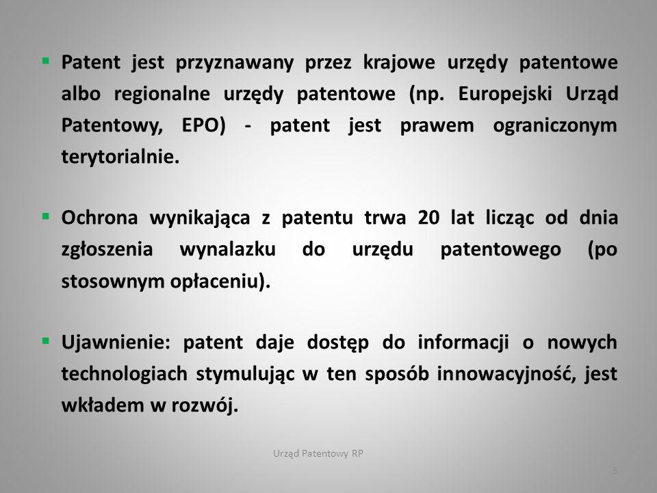 Urząd Patentowy RP 6 Rodzaje patentów