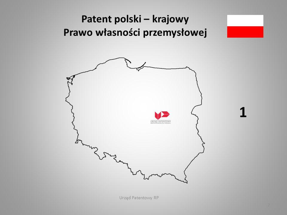 Urząd Patentowy RP Patent europejski Konwencja o patencie europejskim, EPC 38 8
