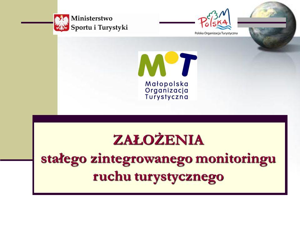 ZAŁOŻENIA stałego zintegrowanego monitoringu ruchu turystycznego