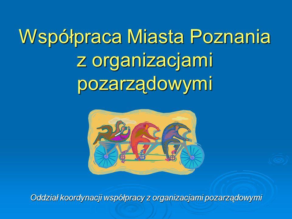 Współpraca Miasta Poznania z organizacjami pozarządowymi Oddział koordynacji współpracy z organizacjami pozarządowymi