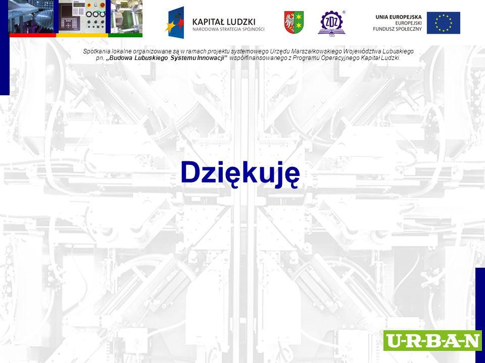 Dziękuję Spotkania lokalne organizowane są w ramach projektu systemowego Urzędu Marszałkowskiego Województwa Lubuskiego pn.