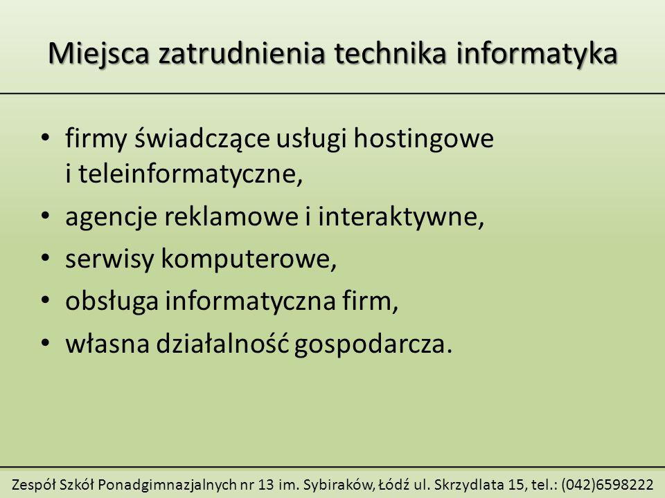 Zespół Szkół Ponadgimnazjalnych nr 13 im. Sybiraków, Łódź ul.