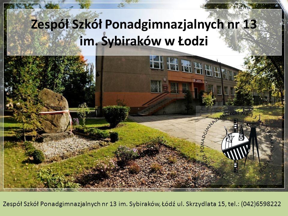 Zespół Szkół Ponadgimnazjalnych nr 13 im.