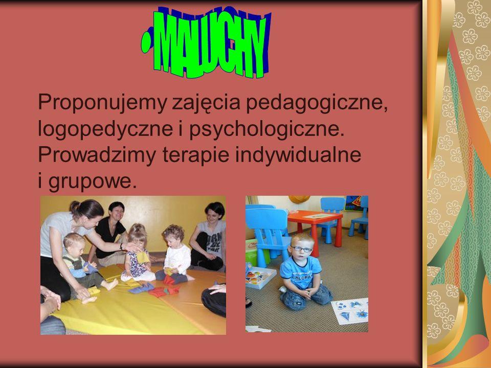 Proponujemy zajęcia pedagogiczne, logopedyczne i psychologiczne. Prowadzimy terapie indywidualne i grupowe.