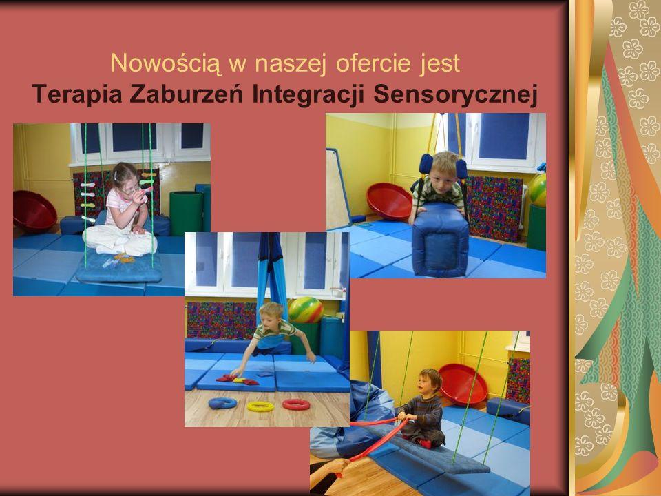 Nowością w naszej ofercie jest Terapia Zaburzeń Integracji Sensorycznej