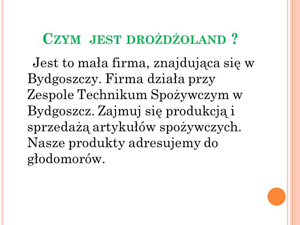C ZYM JEST DROŻDŻOLAND . Jest to mała firma, znajdująca się w Bydgoszczy.