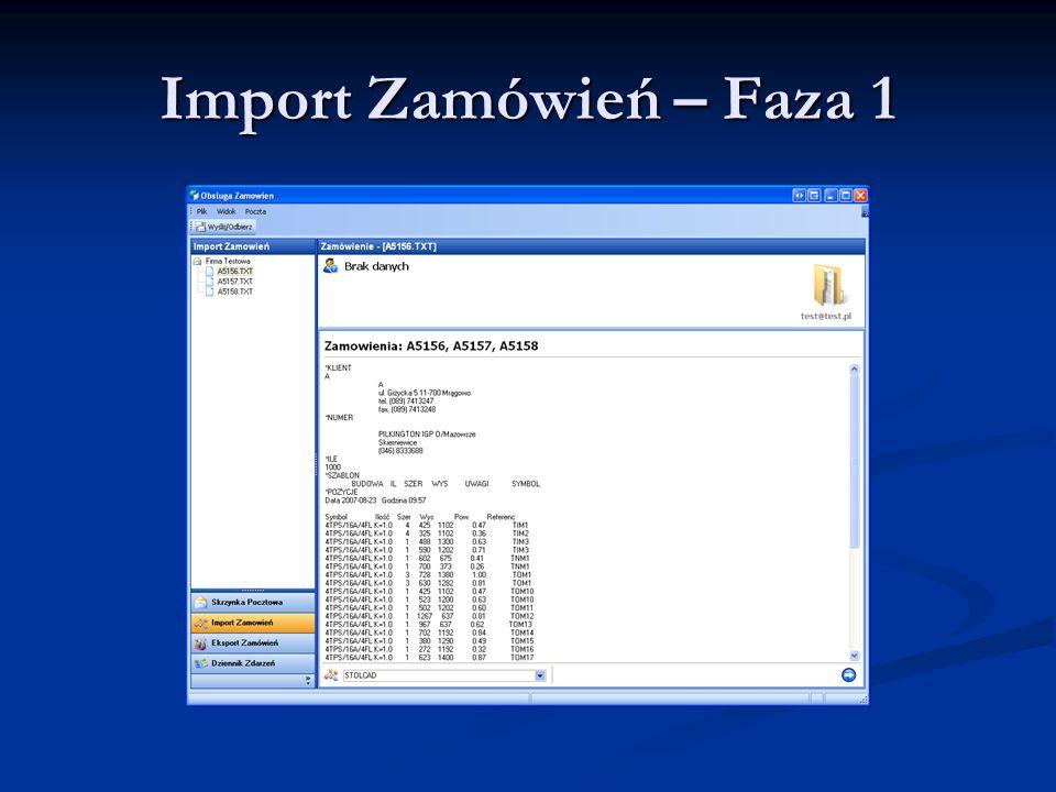 Import Zamówień – Faza 1
