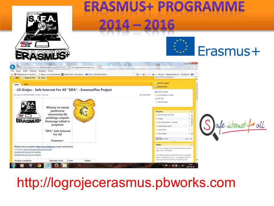 http://logrojecerasmus.pbworks.com