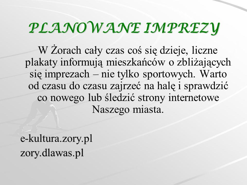 PLANOWANE IMPREZY W Żorach cały czas coś się dzieje, liczne plakaty informują mieszkańców o zbliżających się imprezach – nie tylko sportowych. Warto o