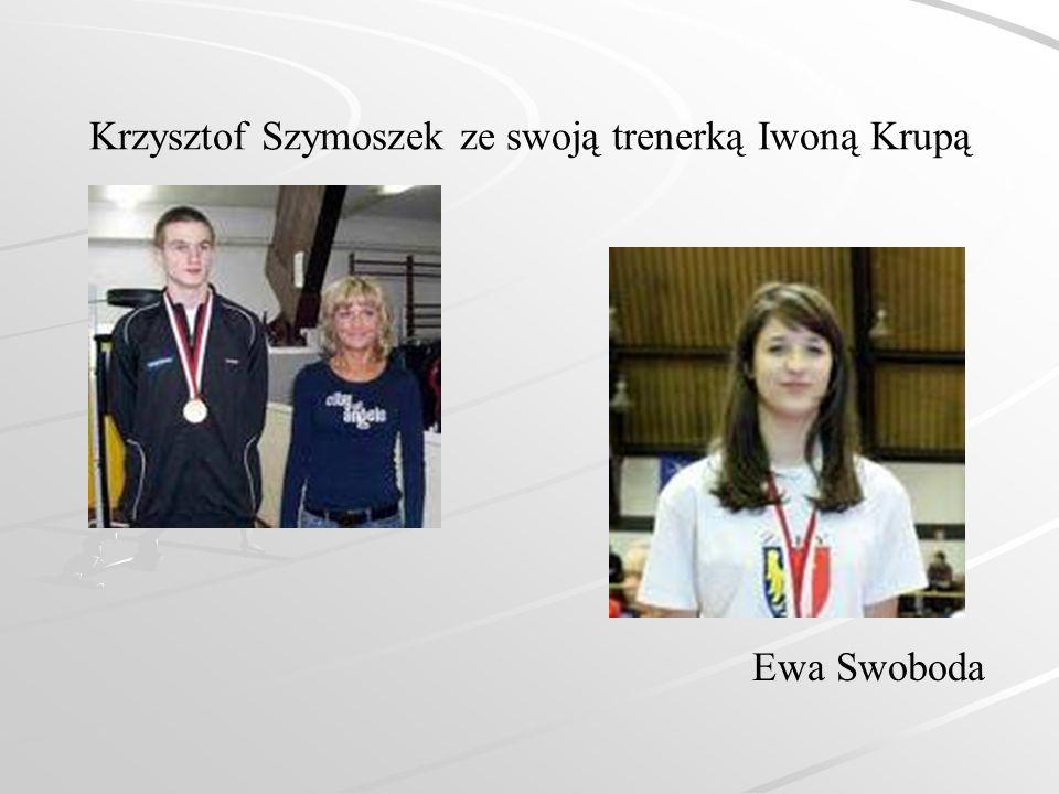Krzysztof Szymoszek ze swoją trenerką Iwoną Krupą Ewa Swoboda