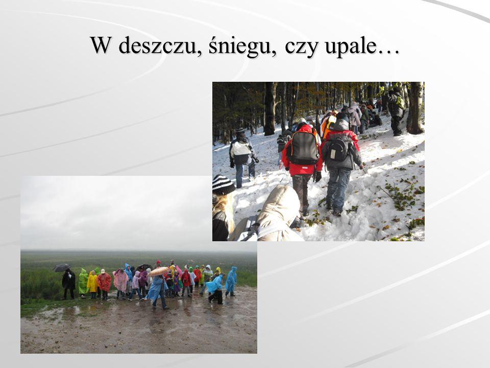 W deszczu, śniegu, czy upale…