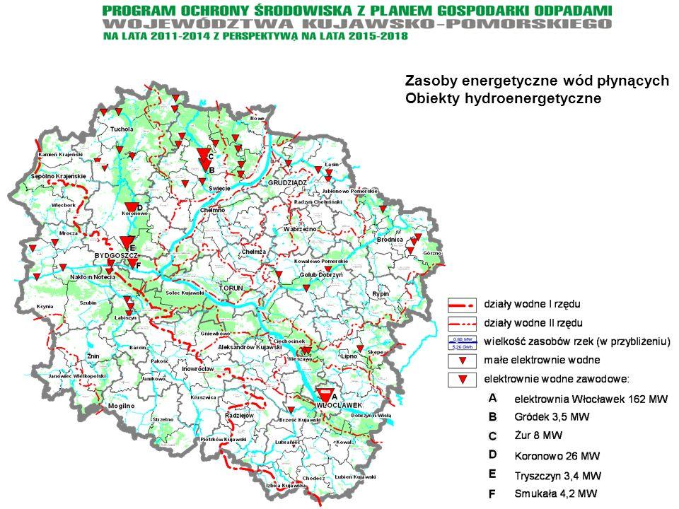 Zasoby energetyczne wód płynących Obiekty hydroenergetyczne