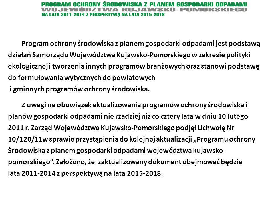Program ochrony środowiska z planem gospodarki odpadami jest podstawą działań Samorządu Województwa Kujawsko-Pomorskiego w zakresie polityki ekologicz
