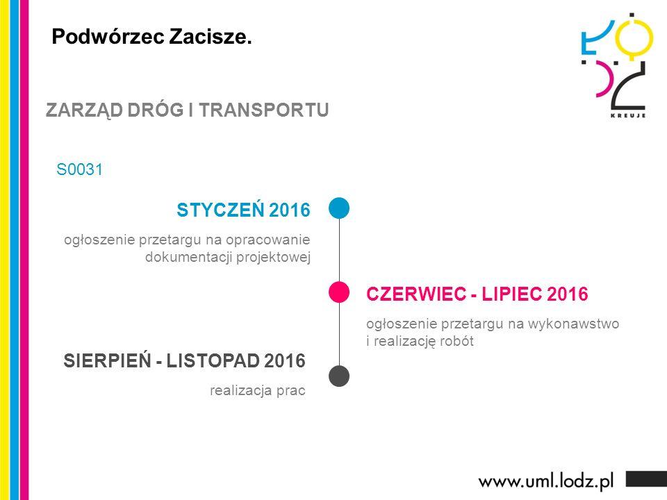 STYCZEŃ 2016 ogłoszenie przetargu na opracowanie dokumentacji projektowej CZERWIEC - LIPIEC 2016 ogłoszenie przetargu na wykonawstwo i realizację robót SIERPIEŃ - LISTOPAD 2016 realizacja prac Podwórzec Zacisze.