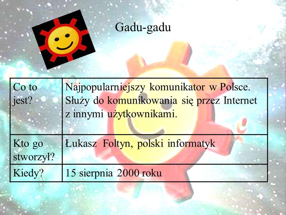 Gadu-gadu Co to jest. Najpopularniejszy komunikator w Polsce.
