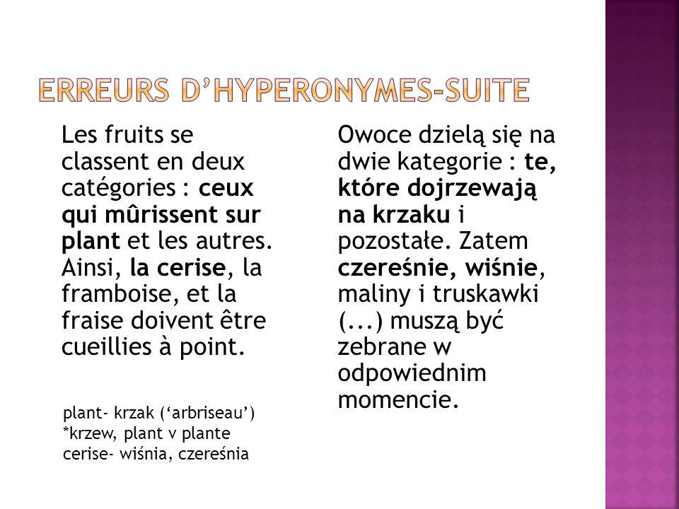 Les fruits se classent en deux catégories : ceux qui mûrissent sur plant et les autres.