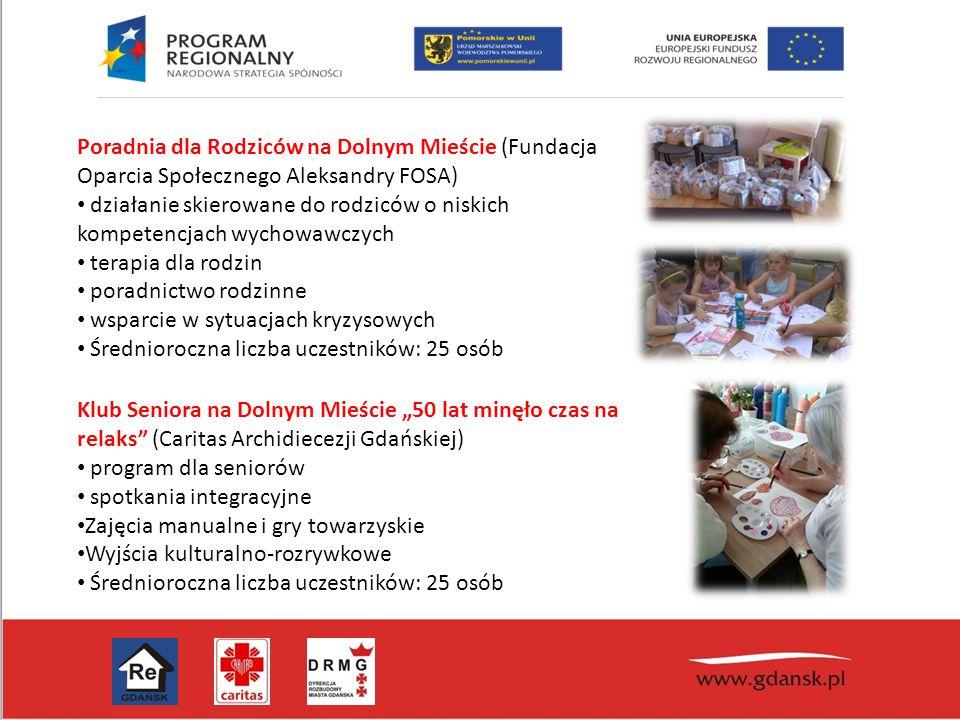 Poradnia dla Rodziców na Dolnym Mieście (Fundacja Oparcia Społecznego Aleksandry FOSA) działanie skierowane do rodziców o niskich kompetencjach wychow