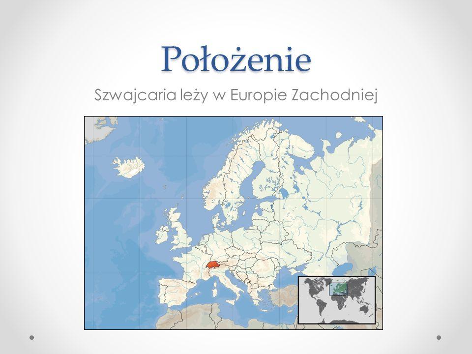 Położenie Szwajcaria leży w Europie Zachodniej