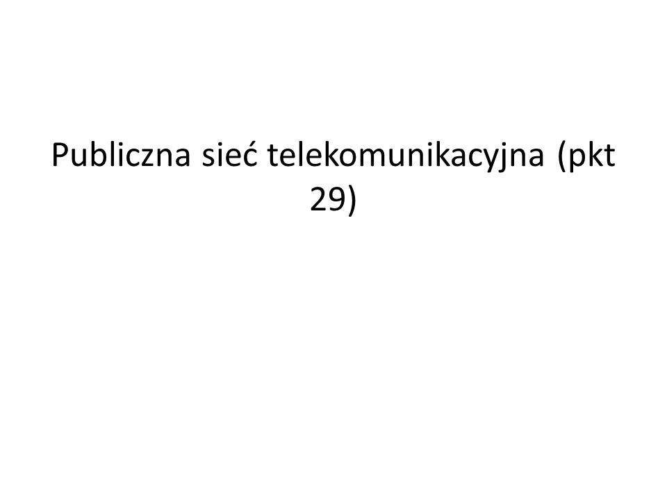 Publiczna sieć telekomunikacyjna (pkt 29)