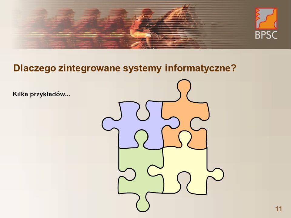Dlaczego zintegrowane systemy informatyczne? 11 Kilka przykładów...