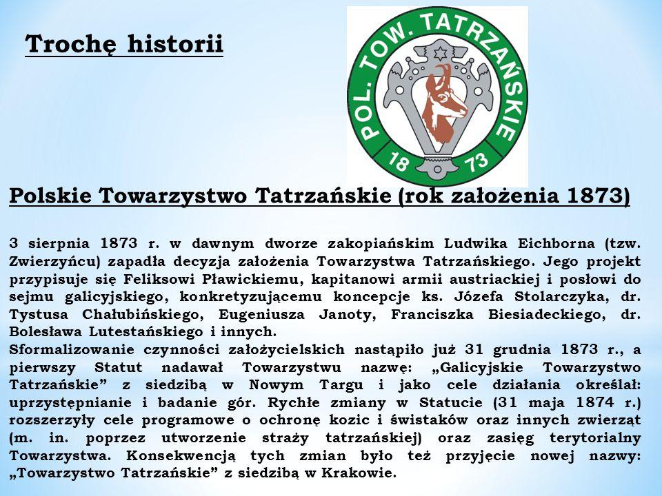 Polskie Towarzystwo Tatrzańskie (rok założenia 1873) 3 sierpnia 1873 r.