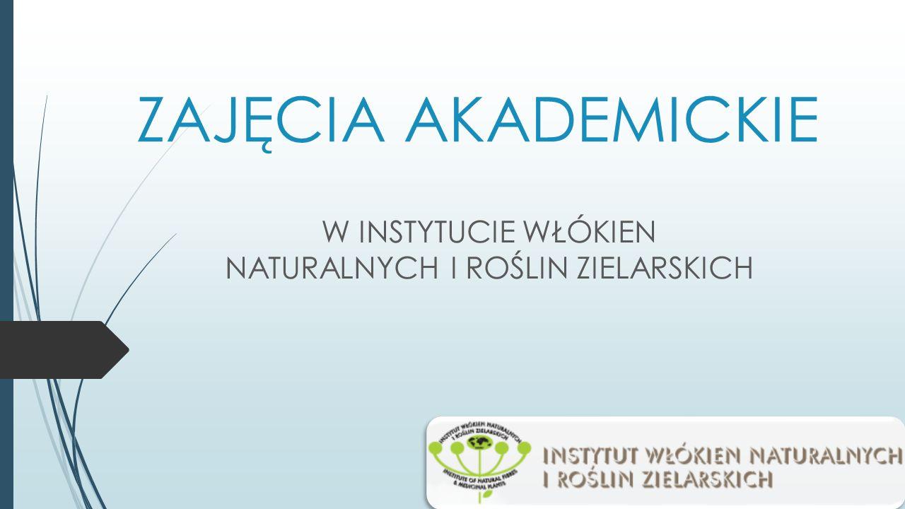  8 marca klasy biol-chem 1E i 1F uczestniczyły w zajęciach w Instytucie Włókien Naturalnych i Roślin Zielarskich.