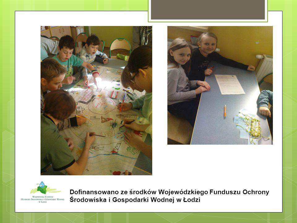 Dofinansowano ze środków Wojewódzkiego Funduszu Ochrony Środowiska i Gospodarki Wodnej w Łodzi