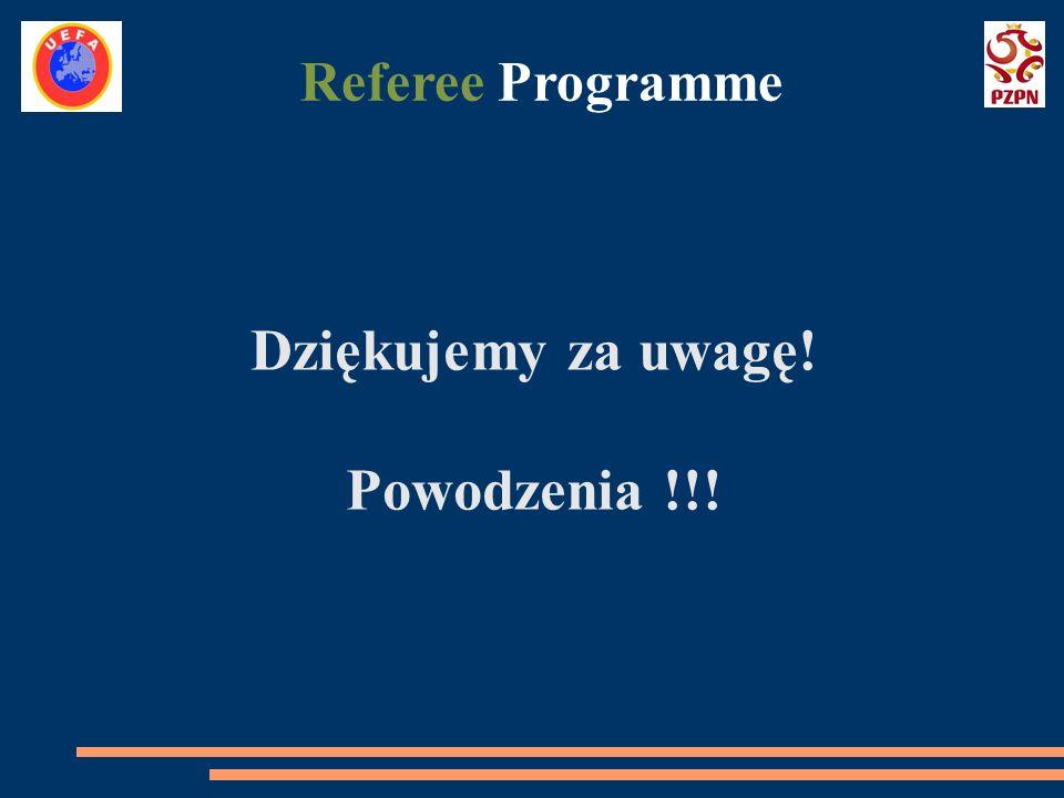 Dziękujemy za uwagę! Powodzenia !!! Referee Programme