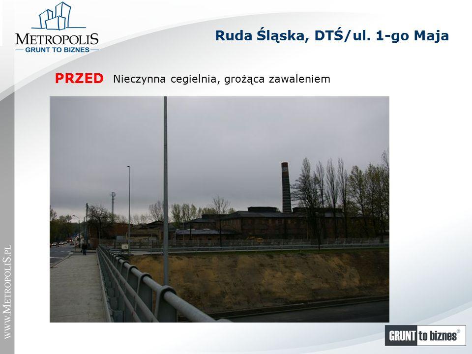 Nieczynna cegielnia, grożąca zawaleniem PRZED Ruda Śląska, DTŚ/ul. 1-go Maja