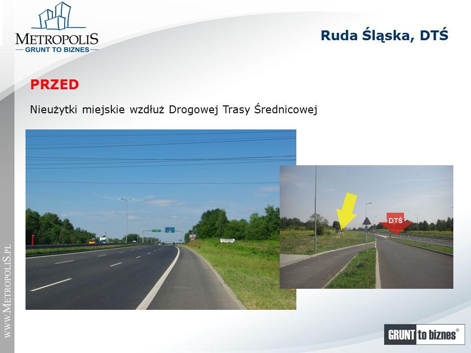 Ruda Śląska, DTŚ Nieużytki miejskie wzdłuż Drogowej Trasy Średnicowej PRZED