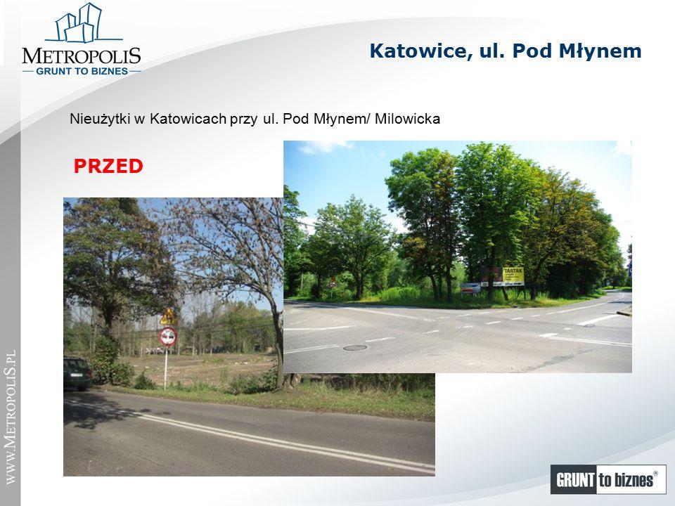Nieużytki w Katowicach przy ul. Pod Młynem/ Milowicka PRZED Katowice, ul. Pod Młynem