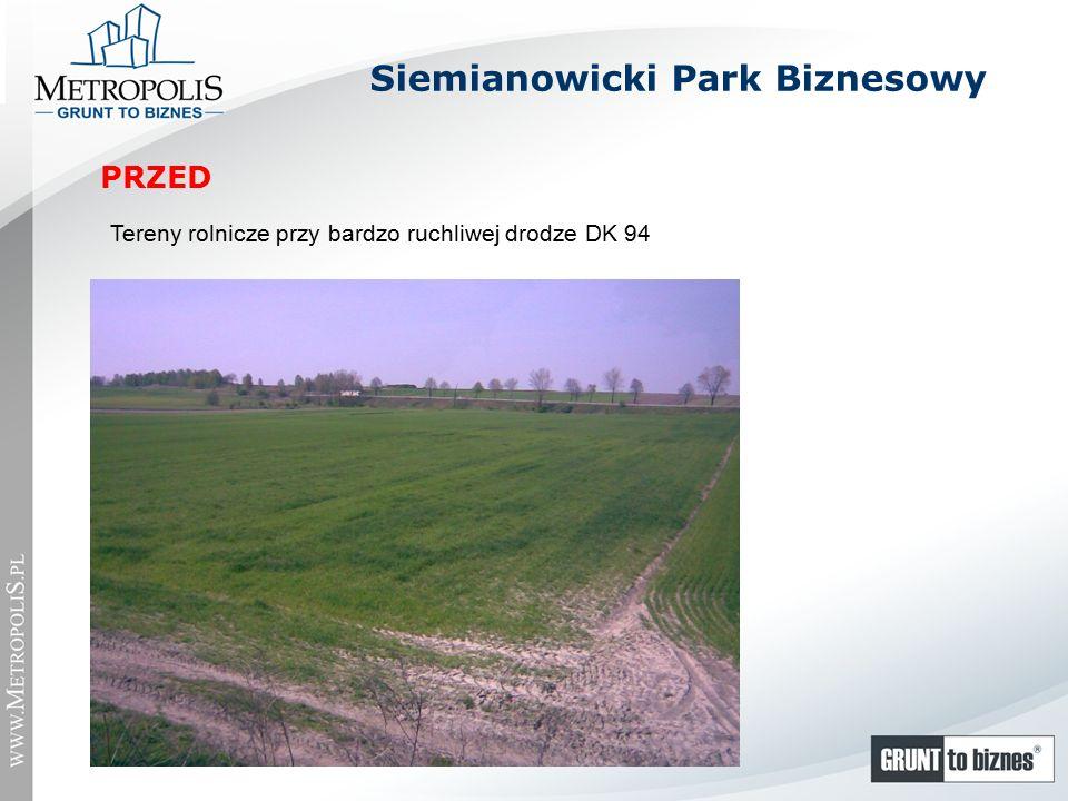 Siemianowicki Park Biznesowy Tereny rolnicze przy bardzo ruchliwej drodze DK 94 PRZED