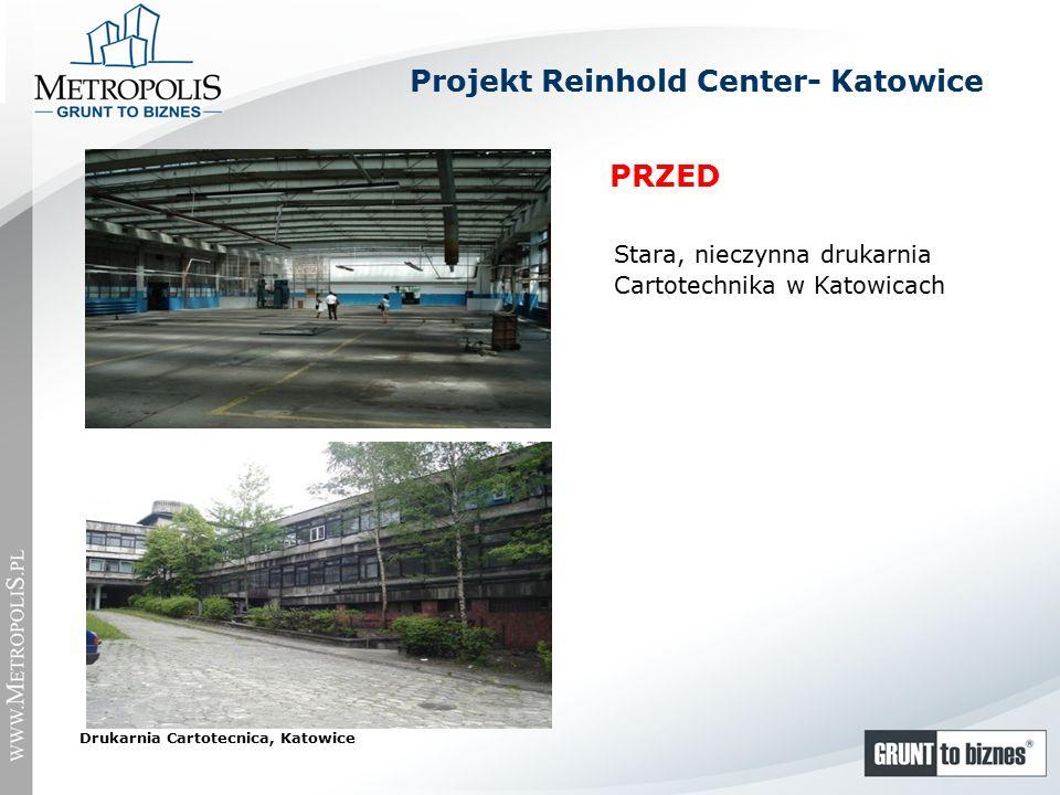 Stara, nieczynna drukarnia Cartotechnika w Katowicach Drukarnia Cartotecnica, Katowice PRZED Projekt Reinhold Center- Katowice