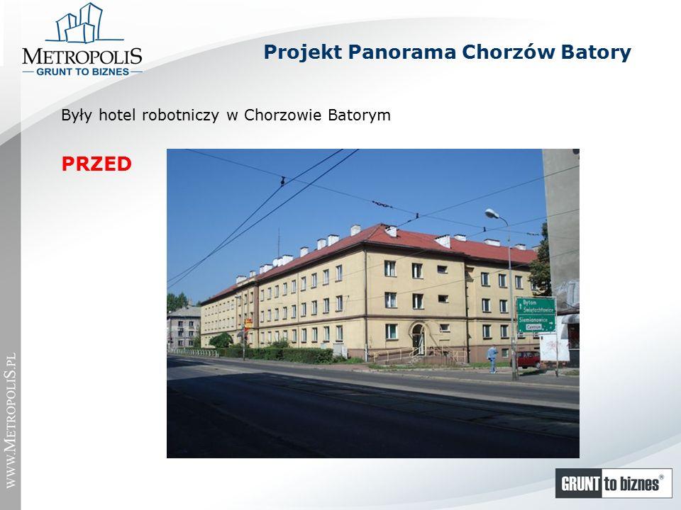Były hotel robotniczy w Chorzowie Batorym PRZED Projekt Panorama Chorzów Batory