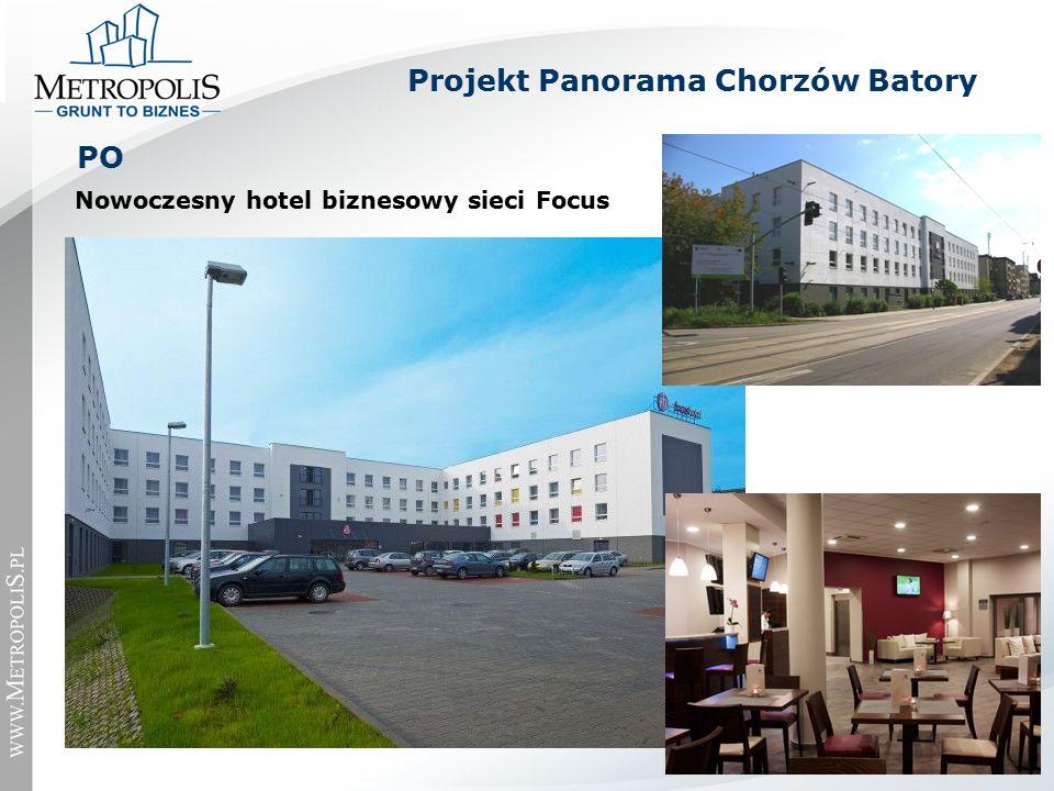 Nowoczesny hotel biznesowy sieci Focus PO Projekt Panorama Chorzów Batory