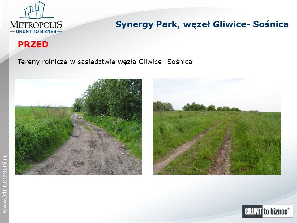 Synergy Park, węzeł Gliwice- Sośnica Tereny rolnicze w sąsiedztwie węzła Gliwice- Sośnica PRZED