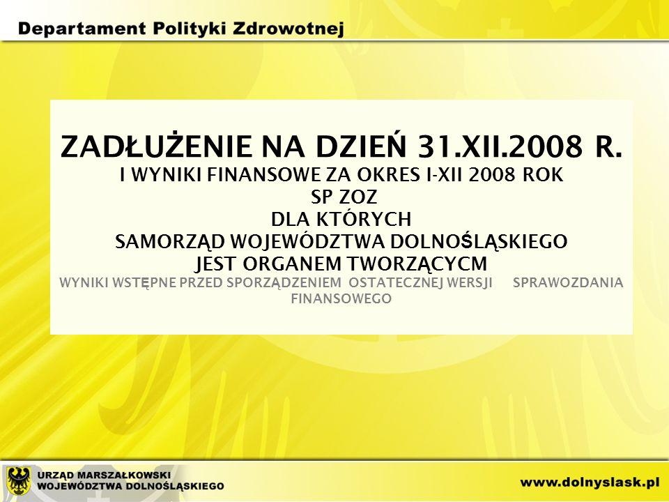ZAD Ł U Ż ENIE NA DZIE Ń 31.XII.2008 R.
